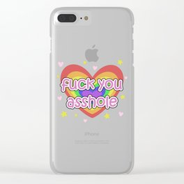 Fuck You Asshole! - with cuteness Clear iPhone Case