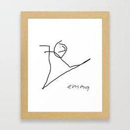 JKL by Emma (signed) Framed Art Print