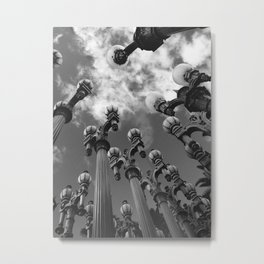 Lamp Posts Metal Print