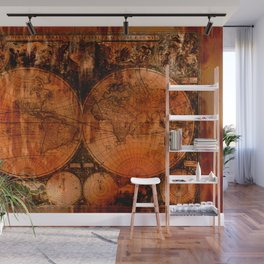 Rustic Old World Map Wall Mural