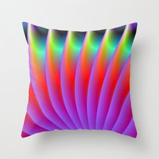 Neon Fan Throw Pillow