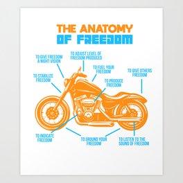 Motorcycle Freedom Chopper Rocker Cruiser Gift Art Print