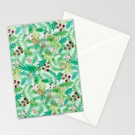 yuletide greenings Stationery Cards