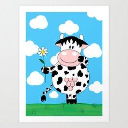 Cow Daisy Art Print