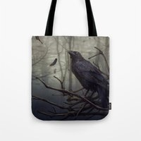 raven Tote Bags featuring Raven by Raven-Art