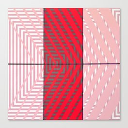 August - arrow graphic Canvas Print