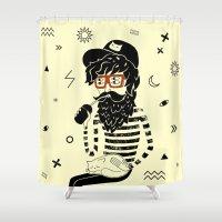 dreamer Shower Curtains featuring Dreamer by Anya Volk