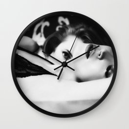 lesbians in bed Wall Clock