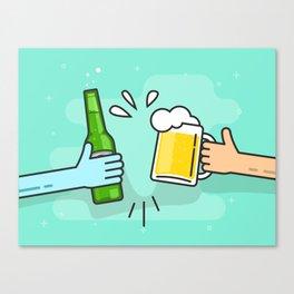 Beer understands! Canvas Print