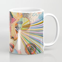 Abstract Art Female Women Portrait Painting ...Honestly Speaking Coffee Mug