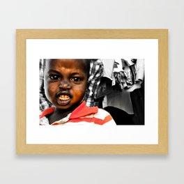 Grimace Re-edit Framed Art Print