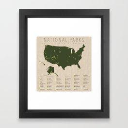 US National Parks Framed Art Print