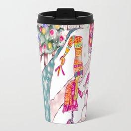Merry Christmas Snowgirl Travel Mug