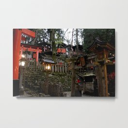 Fushimi Inari Shrine at Dusk Metal Print