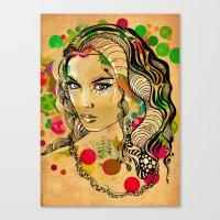 dots Canvas Prints featuring Dots by Irmak Akcadogan