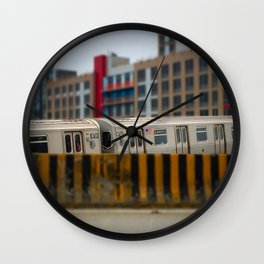 Number 7 Train NYC Wall Clock