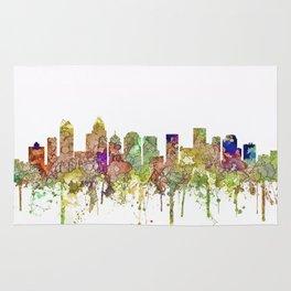 Charlotte, North Carolina Skyline SG - Faded Glory Rug