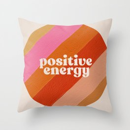Positive Energy Sphere – Retro Throw Pillow