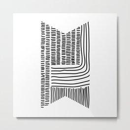 Digital Stitches thick white Metal Print
