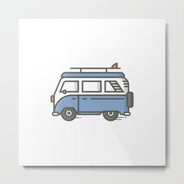 Surf Bus Metal Print