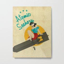 Atomic Seahorse Metal Print