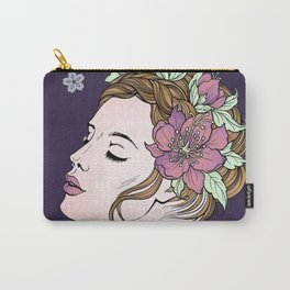 Flower Crown Girl Carry-All Pouch