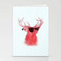 Stationery Cards featuring Young Buck. by Nick Nelson