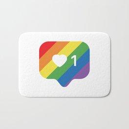 Instagram LGBTQ Heart Notification Bath Mat