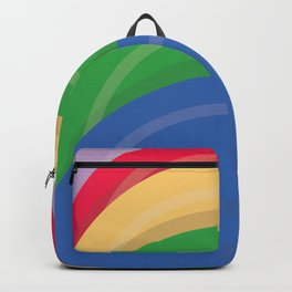 Animated movie poster, minimal fine art print, cartoon, children, minimalist locandina Backpack