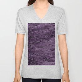 Grayish Purple Feathers Unisex V-Neck