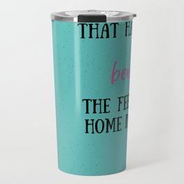 Leah on the Offbeat by Becky Albertalli quote Travel Mug