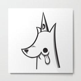Dumb Dog a Day - Scholar Metal Print