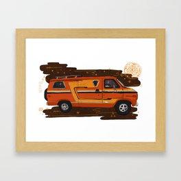 Badass Vintage Van Framed Art Print
