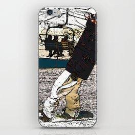 Sliding In - Snowboarder Fool iPhone Skin