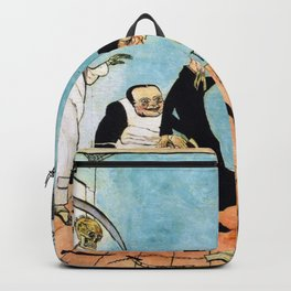 Death Comes (The Bad Doctors) portrait painting by James Ensor Backpack