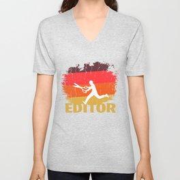 Vintage Editor Design Unisex V-Neck