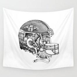 Football Helmet Wall Tapestry