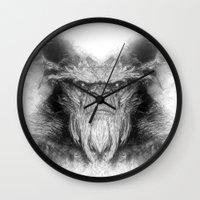 sasquatch Wall Clocks featuring Sasquatch by Zandonai