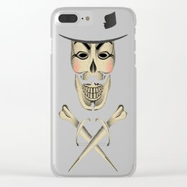 Skull & Fawkes Bones Clear iPhone Case