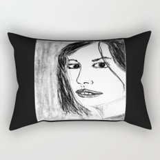 THE UNKNOWN GIRL Rectangular Pillow