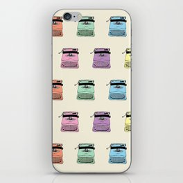 A head full of typewriters - pattern - vintage - '50s - 1950 - fifties- lettera 22 - Oiivetti facsim iPhone Skin