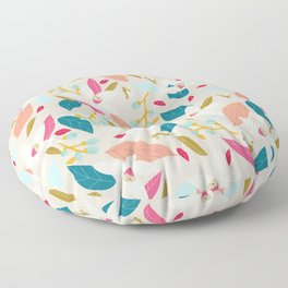 Hello spring - pink and aquamarine Floor Pillow
