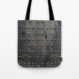 Old Black Door Tote Bag