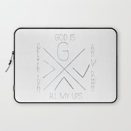 God is greater Laptop Sleeve