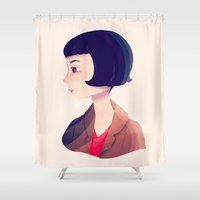 amelie Shower Curtains featuring Amelie by Nan Lawson