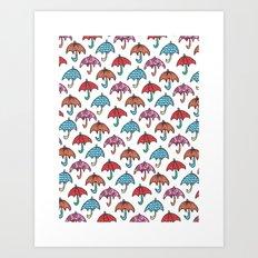 watercolour umbrella Art Print