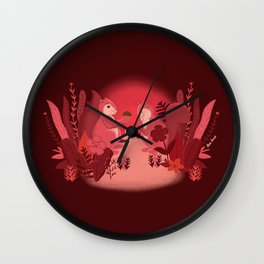 Squirrels in Love Wall Clock
