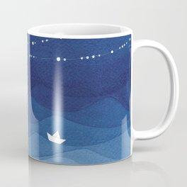 night sky, ocean painting Kaffeebecher