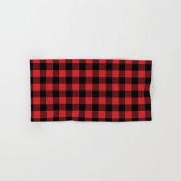 Buffalo Plaid Rustic Lumberjack Buffalo Check Pattern Hand & Bath Towel