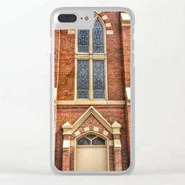 First Lutheran Church Windows in Moline, Illinois Clear iPhone Case
